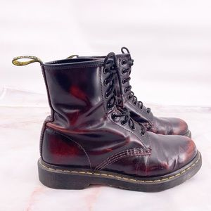 Dr marten dark cherry red boots size 9